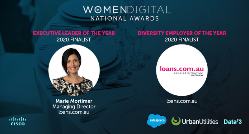 loans.com.au shortlisted for two Women in Digital Awards